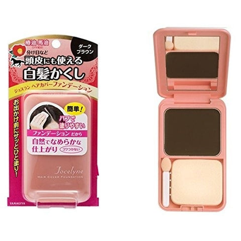 Yanagiya Jocelyne Hair Cover Foundation Dark Brown 13g