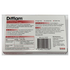 Difflam Anti inflammatory And Anti bacterial Lozenges 16 tablets- Rasberry