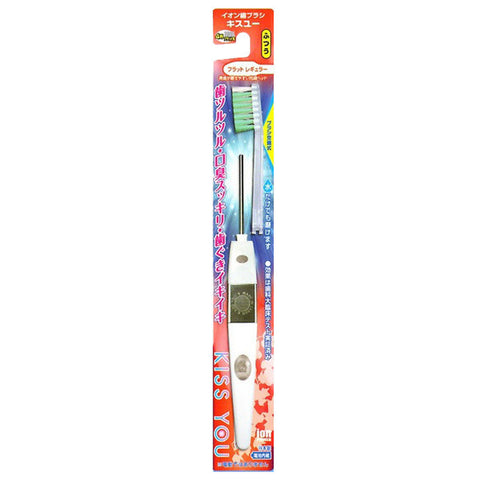 Kiss You Ionic Regular Flat Toothbrush (Medium)