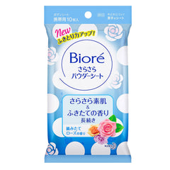 Biore Refreshing Body Powder Sheet 10s- Rose Scented