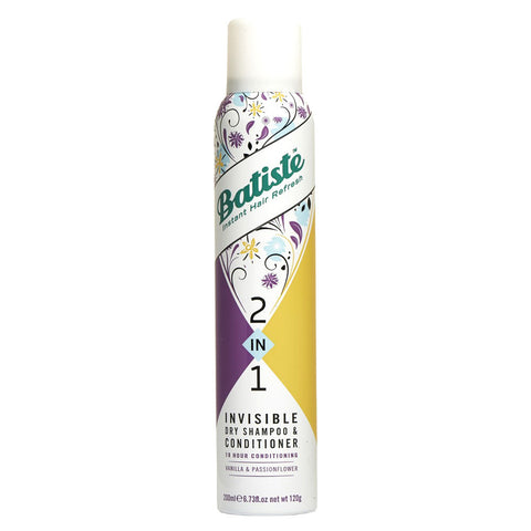 Batiste 2 in 1 Invisible Dry Shampoo and Conditioner 200ml - Vanilla and Passionflower