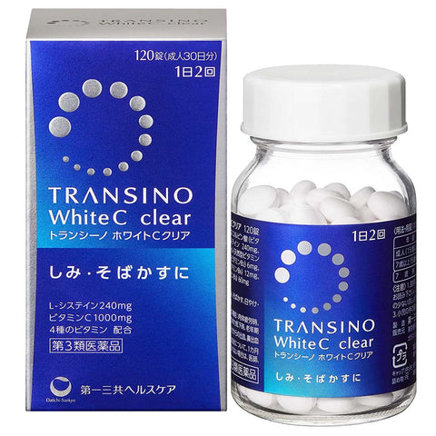 Transino White C Clear Tablets 120 tablets