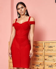 Erica Red Hot Bodycon Dress