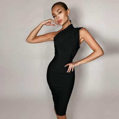 Sophia Black Bodycon Dress
