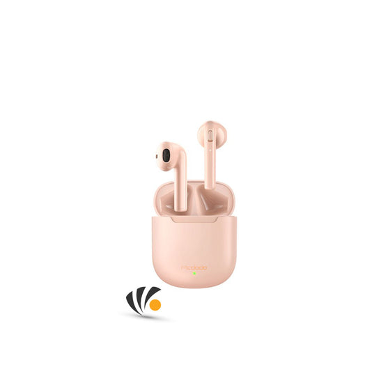 Mcdodo Dynamic TWS Earphone with wireless charge Pink