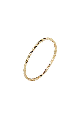 DIAMOND CUT RING - 14K GULD
