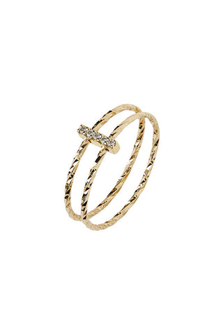 GISH DIAMOND CUT GOLD RING - 14K GULD