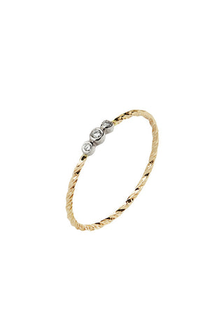 JESSA BLANC DIAMOND CUT RING - 14K GULD