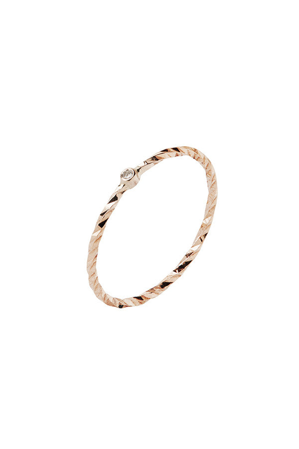 JOBYNA DIAMOND CUT RING - 14K ROSA GULD