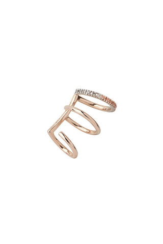 LAUREL ROSE EAR CUFF - 14K ROSA GULD