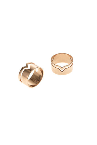 FOOLED HEART RING - ROSA GULD