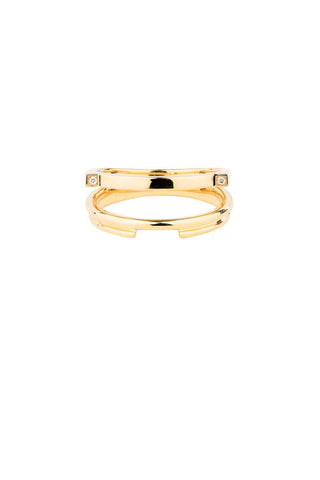 DUET DIAMOND RING - 14K YELLOW GOLD