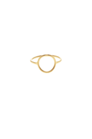 MONOCLE RING MEDIUM CIRKEL - GULD