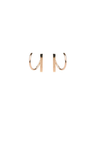 SANAE TWIRL EARRING - ROSE GOLD