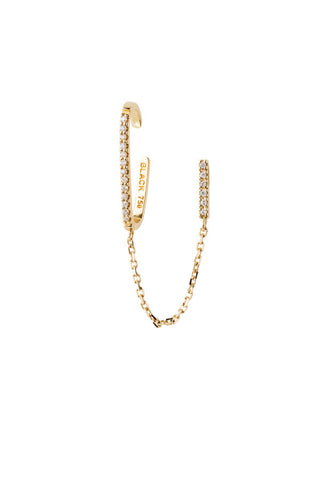 SARAH DIAMOND EAR CUFF  - 14K YELLOW GOLD