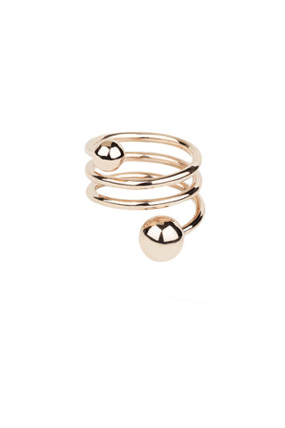 BODY DOUBLE SPIRAL RING - ROSA GULD