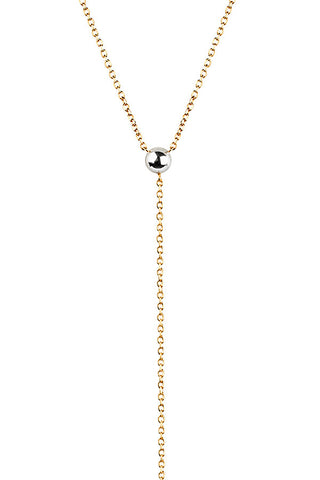 HELIX NECKLACE - TWO TONE