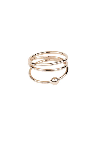 HELIX TRAPEZ RING - ROSA GULD