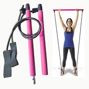 Portable Pilates Bar Kit Bodybuilding Yoga Pilates Stick Yoga Resistance Bands