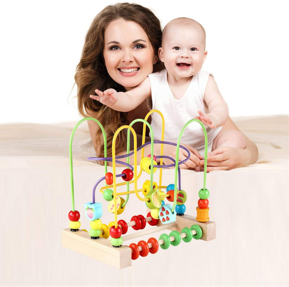 Educational Circle Toys for Babies Bead Maze Activity Cube Sensory Toys for Children