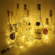 BATTERY POWERED WINE BOTTLE LIGHTS WITH CORK 1M/2M LED COPPER WIRE COLORFUL FAIRY LIGHTS STRING