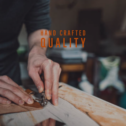 Each leather wallet is handcrafted, and hand burnished by artisans with incredible attention to detail and top-quality workmanship.  While the inspiration and design for our goods is created in our office in Wichita, KS, we proudly partner with creators and crafters from the US to Mexico to India who share in our passion and meet our standards for excellence.
