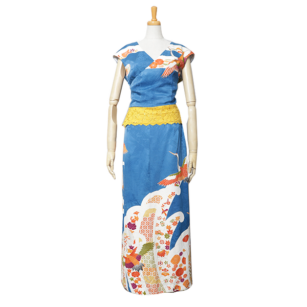 Ofurisode Vivid Blue Dress