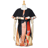 Kurotome Kimono Black Little Dress