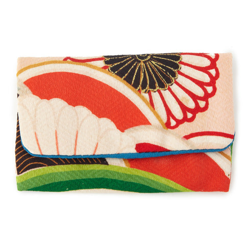 Silk kimono business card holder