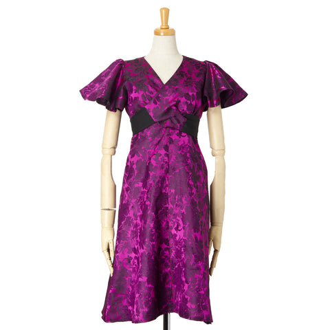 SILK VIOLET BEAUTIFUL DRESSW