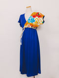 女神Dress luxe/お引き摺*Royal blue/Violet/Orange/Ash