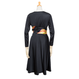Flare Flare Skirt Dress(CichBlack)