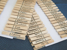 Load image into Gallery viewer, Hand-Lettered Peg Place Cards