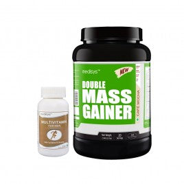 Medisys Double Mass Gainer - Creamy Vanilla 1.5Kg with Multivitamin