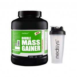 Medisys Double Mass Gainer - Creamy Vanilla 3Kg with Shaker