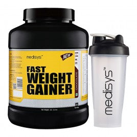 Medisys Fast Weight Gainer Chocolate 3Kg with Shaker