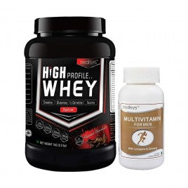 Medisys High Profile Whey Chocolate -1Kg with Multivitamin