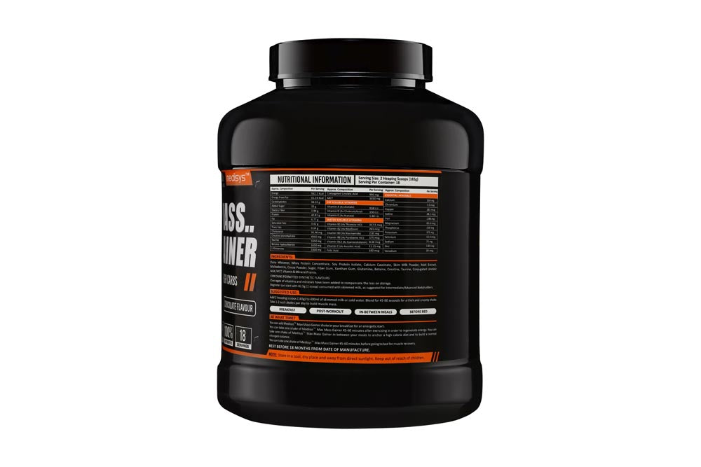 Medisys Max Mass Gainer 3Kg-Chocolate