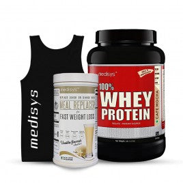 Medisys Whey Protein - Cafe Mocha - 1kg + Meal Replacer [Free-Sando]