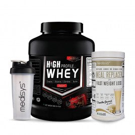 Medisys High Profile Whey Chocolate -2Kg + Meal Replacer [Free-Shaker]