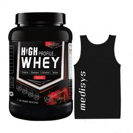 Medisys High Profile Whey Chocolate -1Kg + Meal Replacer [Free Sando]