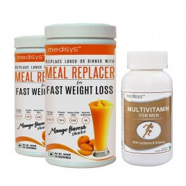 Medisys MEAL REPLACER-MANGO COMBO with Multivitamin for Men