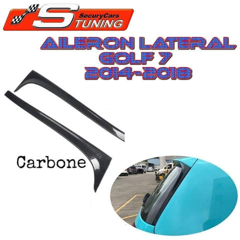 AILERON LATERAL VW GOLF 7 MK7 GTD R 2014-2018 CARBONE POA4319560 - SecuryCars Tuning