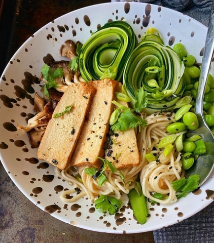 What is tofu? Mike's Mighty Good ramen