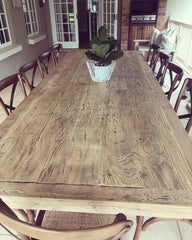 Woodoc Ultra Matt on Antiqued Oak Dining Table - invisible finish