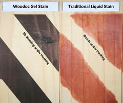 Comparison of Woodoc Gel Stain with Traditional Liquid Stain