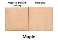 Woodoc Ultra Matt on Maple - invisible finish