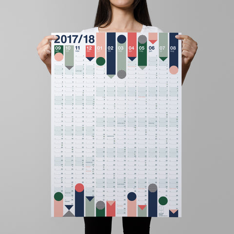 2017/18 Academic Year Planner - LOWER PRICE