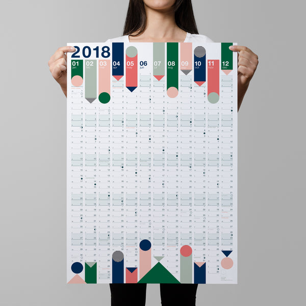 2018 Year Planner : Colours