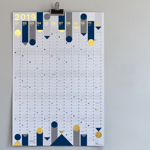*NEW* 2019 Year Planner : Gold Foil (PRE-ORDER)